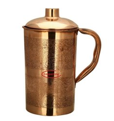 Embossed Eaching Copper Jug Pitcher