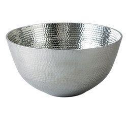 Silver Aluminum Bowl
