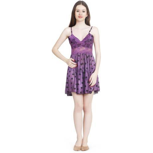 ed5be7f4238 Satin Ladies Stitched Short Nighty