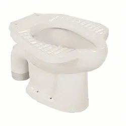 Open Front Floor Mounted Anglo Indian S Type Water Closet