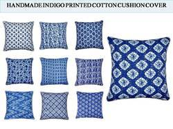 Indigo Blue Cotton Kantha Cushion Covers