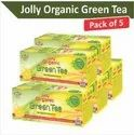 Jolly Organic Green Tea With Refreshing Lemon - Combo Pack Of 5 (24 Tea Bags In Each)