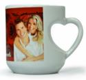 Deeher Gift White Sublimation Heart Mug