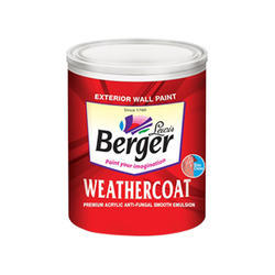 Berger Weathercoat Premium Acrylic Anti Fungal Smooth Emulsion, Packaging Size: 1 Litre