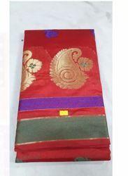 Kanchipuram Casual Wear Ladies Saree, Without Blouse Piece