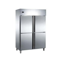 Stainless Steel Electricity Four Door Vertical Refrigerator, Capacity: 750 Ltr