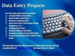 Data Entry Projects