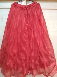 Red Kota Doria Skirt