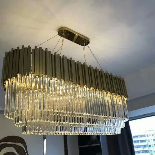 Oval Crystal Chandelier