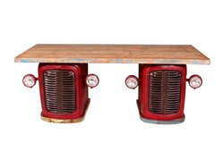 sk arts Metal Tractor Dining Table, For Restaurant