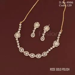 American Diamond Studded Necklace Set