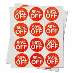 50% Discount Labels