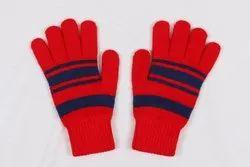 Red Full Finger Winter Gloves