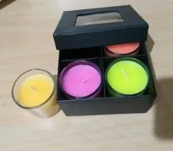 Wax Candle Glasses (Set of 4)