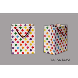 Paperboard Printed Dotted Hand Bag
