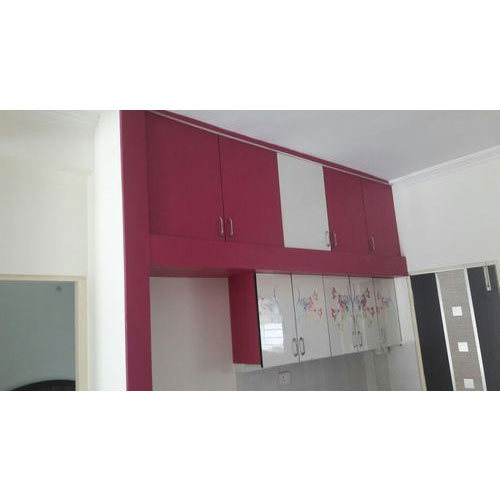 Overhead Kitchen Cabinet: Pink And White Modular Kitchen Overhead Cabinet, Rs 1500