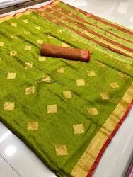 Rich Banarasi Cotton Saree