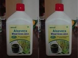 Organic Aloe Vera Wheat Grass Juice