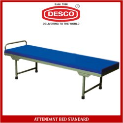 DESCO Blue Attendant Bed Standard, Size: 180 L X 60 W X 46 H Cm