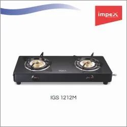 2 Burner Glass Gas Stove (IGS 1212M)