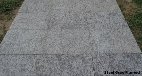 Steel Grey Flamed Granite