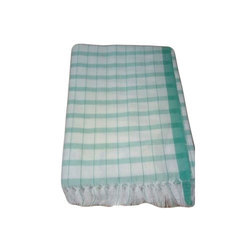 Green And White Cotton Dish Towel