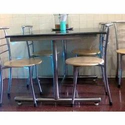 SVI Ss Steel Restaurant Table And Chair, For Cafe, Seating Capacity: 4