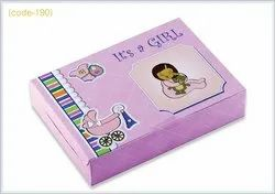Pink Paper Baby Shower Boxes_500 Gms Girl_its a Girl, For Mithai And Chocolates