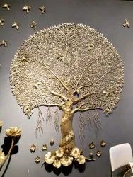 Brass Tree Of Life Wall Sculptor