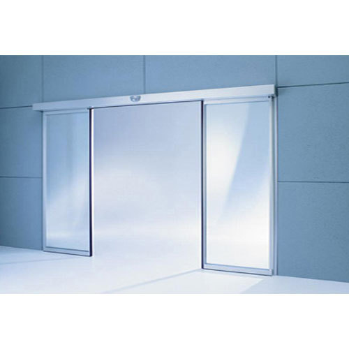 Grey Plain Automatic Sensor Door for Office
