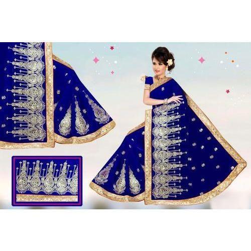 2071249855 Ladies Hand Work Designer Saree, Length: 5.5 M, Rs 1400 /piece   ID ...