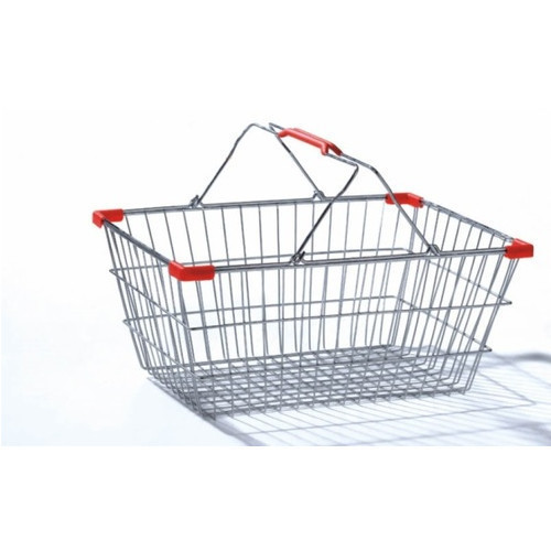 Welworth Wire Basket Stainless Steel Shopping Basket
