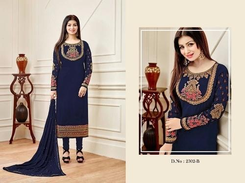 Navy Blue Color Heavy Embroidery Salwar Suit at Rs 1199  df8c7dadb