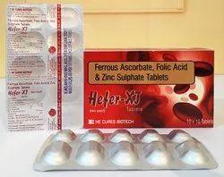 Ferrous Ascorbate Folic Acid & Zinc Sulphate Tablet
