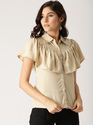 Beige Solid Shirt