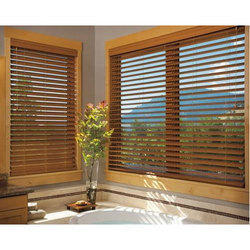Teak Wooden Brown Window Blind