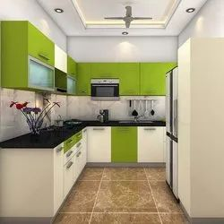 G Shaped Modular Kitchen