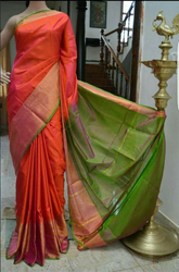 Red Dhoop Chaon Pure Silk Saree