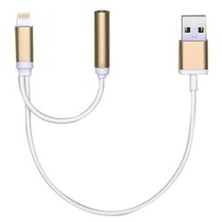 Headphone Jack Adapter Charge Cable