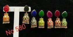 Duzhi Stone Meenakari Earring
