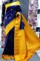 Party Wear Weaving Gadwal Pure Silk Sarees, 6.3 M (with Blouse Piece)