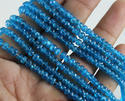 Apatite Micro Faceted Roundel Stone Beads