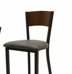 Metal And Wooden Black Cafeteria Chair, Seating Capacity: 1 Person