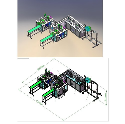 3 Ply Surgical Mask Making Machine - Fully Automatic - Double Station
