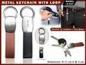 Metal Keychain with Loop H-537