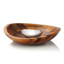 Wooden Chip and Dip