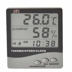 HTC 288-ATH Digital Indoor Outdoor Hygro Thermometer with Clock