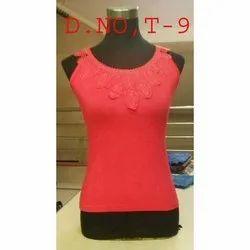 Hosiery Red Ladies Sleeveless Top