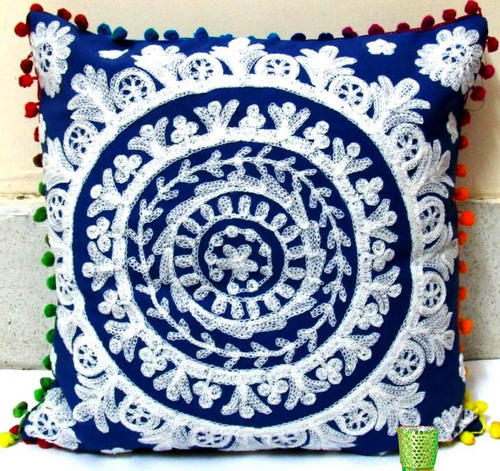 Suzani Hand Embroidery Cushion Cover Indian Pillow Covers At Rs 40 Simple Pillow Cover Hand Embroidery Designs