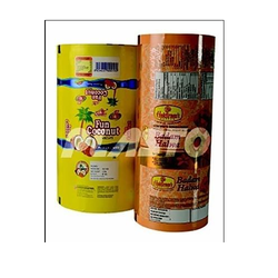 PVC Shrink Film Printed Brown Sweets Packaging Pouch